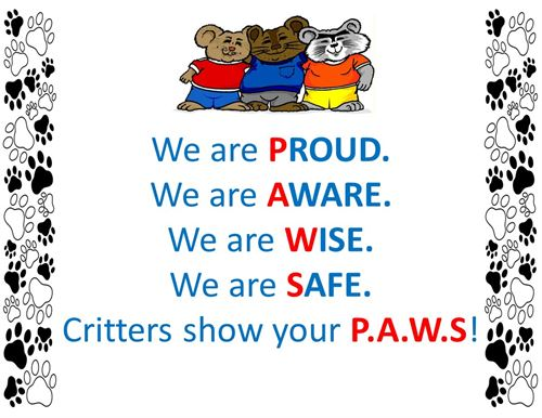 Critter Chant, Show your PAWS